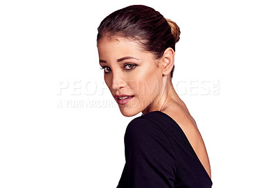 Buy stock photo Studio shot of an attractive and elegant young woman