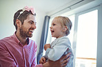 His daughter fills his world with joy and laughter