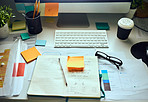 The desk of a designer
