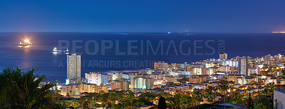 Buy stock photo Beautiful Sea Point, Cape Town, South Africa.