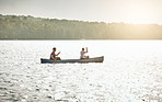 Nothing says relax like a canoe ride on the lake