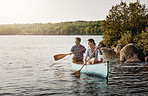 Paddling their way to relaxation