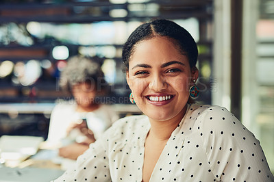 Buy stock photo Cropped shot of designers having a meeting at a coffee shop