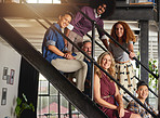 The stairs to creative success is a funky one