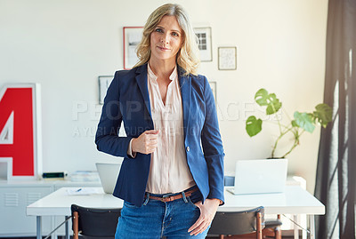 Buy stock photo Portrait of a creative employee in a modern office