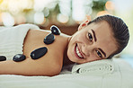 Hot stone therapy is perfect for a winter massage