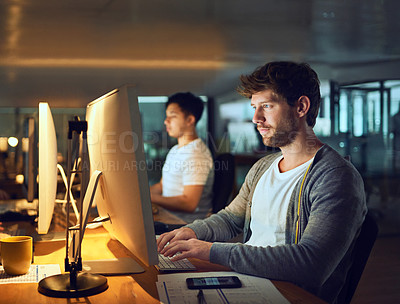 Buy stock photo Cropped shot of young designers working in a creative office