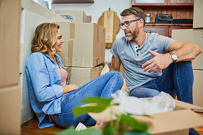 Buy stock photo Cropped shot of a mature couple at home