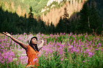Feeling free and smelling freshness, only in nature