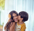 Happy is the child who's mother is happy