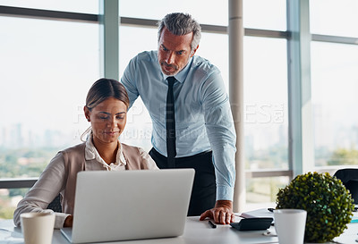 Buy stock photo Cropped shot of corporate businesspeople