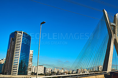 Buy stock photo Shot of a cityscape