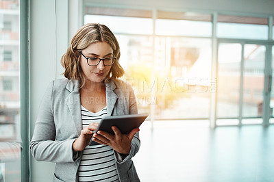 Buy stock photo Shot of businesspeople in a modern office