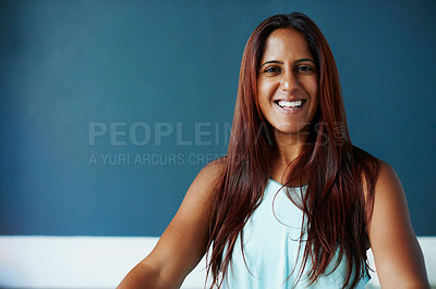 Buy stock photo Cropped shot of a beautiful young woman