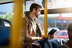 The bus is a great place to catch up on some reading