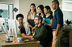 Working in teams increases collaboration and allows brainstorming