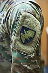 Soldiers wear their feelings on their sleeves