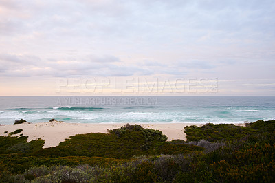 Buy stock photo Still life shot of a coastal landscape