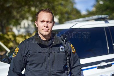 Buy stock photo Shot of police on duty