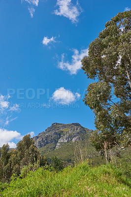 Buy stock photo A photo of Table Mountain, Cape Town, South Africa
