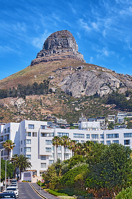 Buy stock photo Shot of Lion's Head mountain, Cape Town