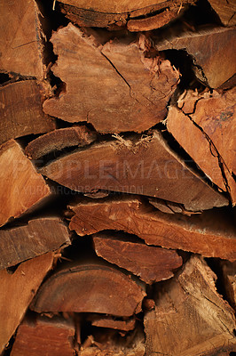 Buy stock photo Cropped shot of a pile of fire wood