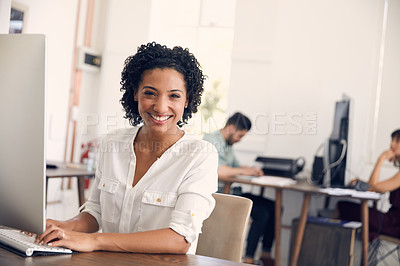 Buy stock photo Cropped shot of businesspeople working in the office