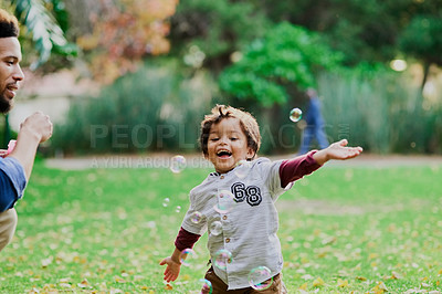 Buy stock photo Shot of an adorable little boy outdoors