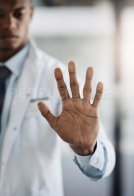 Buy stock photo Cropped shot of a young male scientist working on touchscreen technology while doing research in his lab
