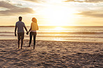 Nothing says romance like a sunset stroll along the beach