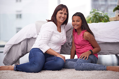 Buy stock photo Shot of a mother and daughter spending some quality time together