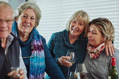 Buy stock photo Cropped shot of a happy family enjoying their get together