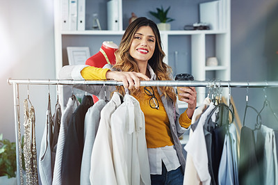Buy stock photo Portrait of a confident young woman working in a design studio