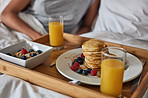 Breakfast fit for a couple in love
