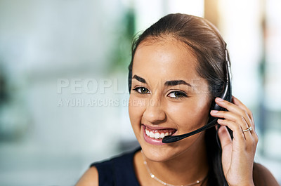 Buy stock photo Shot of people working in a call center