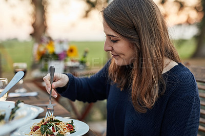 Buy stock photo Cropped shot of a feast on a dinner table