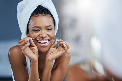 Buy stock photo Shot of a beautiful young woman during her daily beauty routine