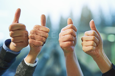Thumbs up to our company becoming successful
