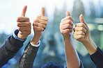 Thumbs up to another great year in business