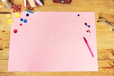 Buy stock photo High angle shot of a creative workstation