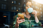 Coffee in one hand, connectivity in the other