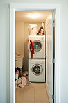 The convenience of having your own laundry room