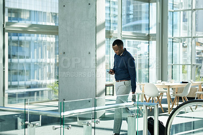 Buy stock photo Cropped shot of a young businessman in the workplace