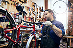 He can perform a wide range of repairs on any bike