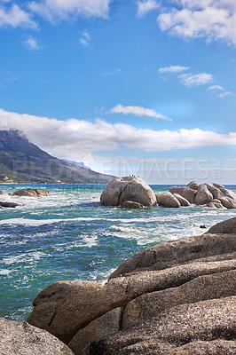 Buy stock photo Ocean view - Camps Bay,  Table Mountain National Park, Cape Town, South Africa