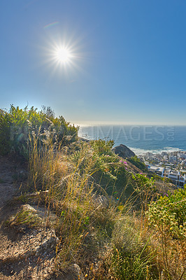 Buy stock photo A photo form Lion's Head, Table Mountain National Park, Cape Town, South Africa