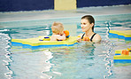 Swimming works and strengthens their muscles