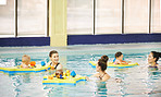 Swimming class is great place to meet new people