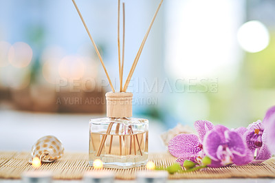 Buy stock photo Shot of various beauty essentials at a spa