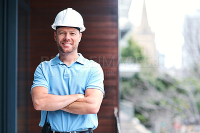 Buy stock photo Cropped shot of an engineer on a construction site